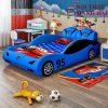 Giường siêu xe ô tô dành cho bé trai GTE145 màu xanh da trời