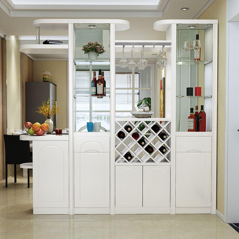 Kệ tủ rượu kiêm vách ngăn phòng khách, tủ giày hiện đại TR006
