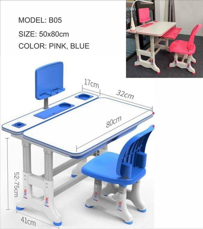 Bàn học ghế thông minh chống gù nhập khẩu BH220 3