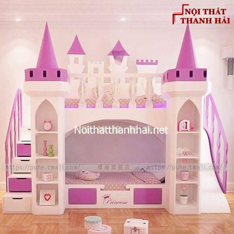 Giường tầng kiểu lâu đài cho bé, trẻ em 10