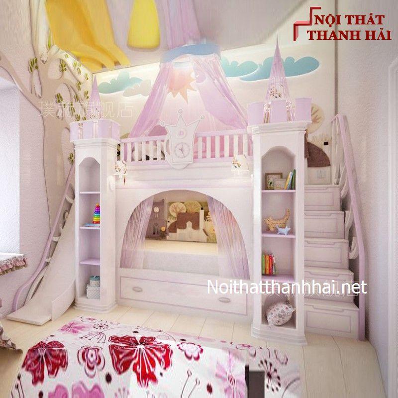 Giường tầng kiểu lâu đài cho bé, trẻ em 11