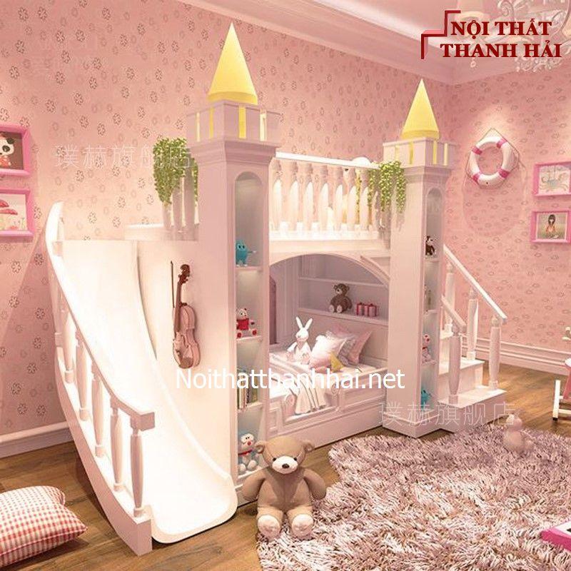 Giường tầng kiểu lâu đài cho bé, trẻ em 13