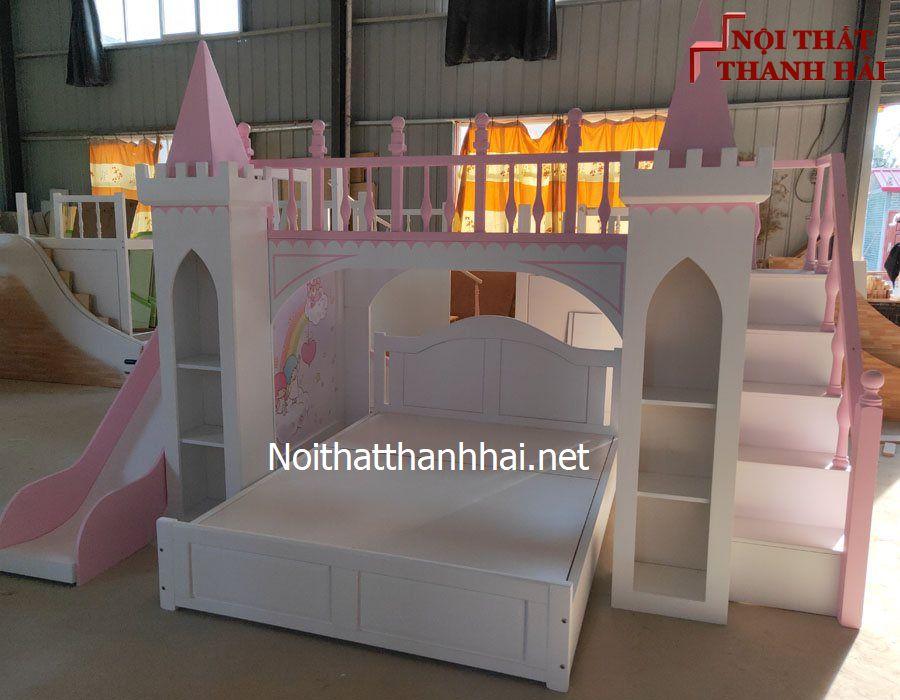 Giường tầng kiểu lâu đài cho bé, trẻ em 16
