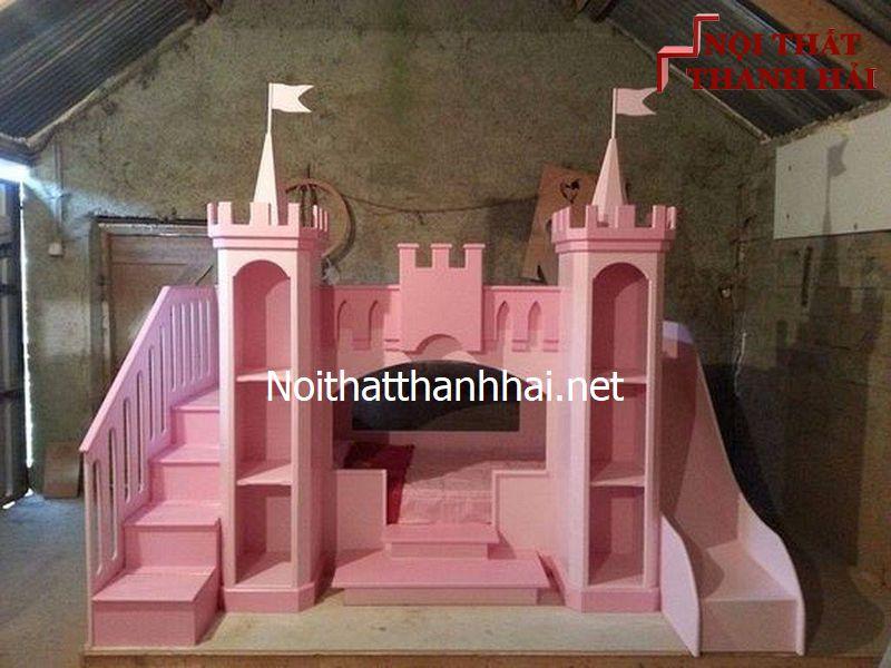 Giường tầng kiểu lâu đài cho bé, trẻ em 18