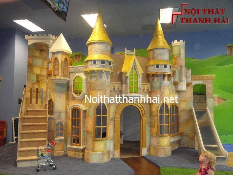 Giường tầng kiểu lâu đài cho bé, trẻ em 2