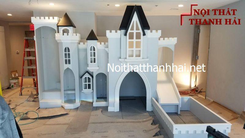 Giường tầng kiểu lâu đài cho bé, trẻ em 19