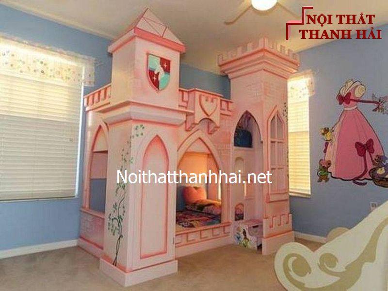 Giường tầng kiểu lâu đài cho bé, trẻ em 20