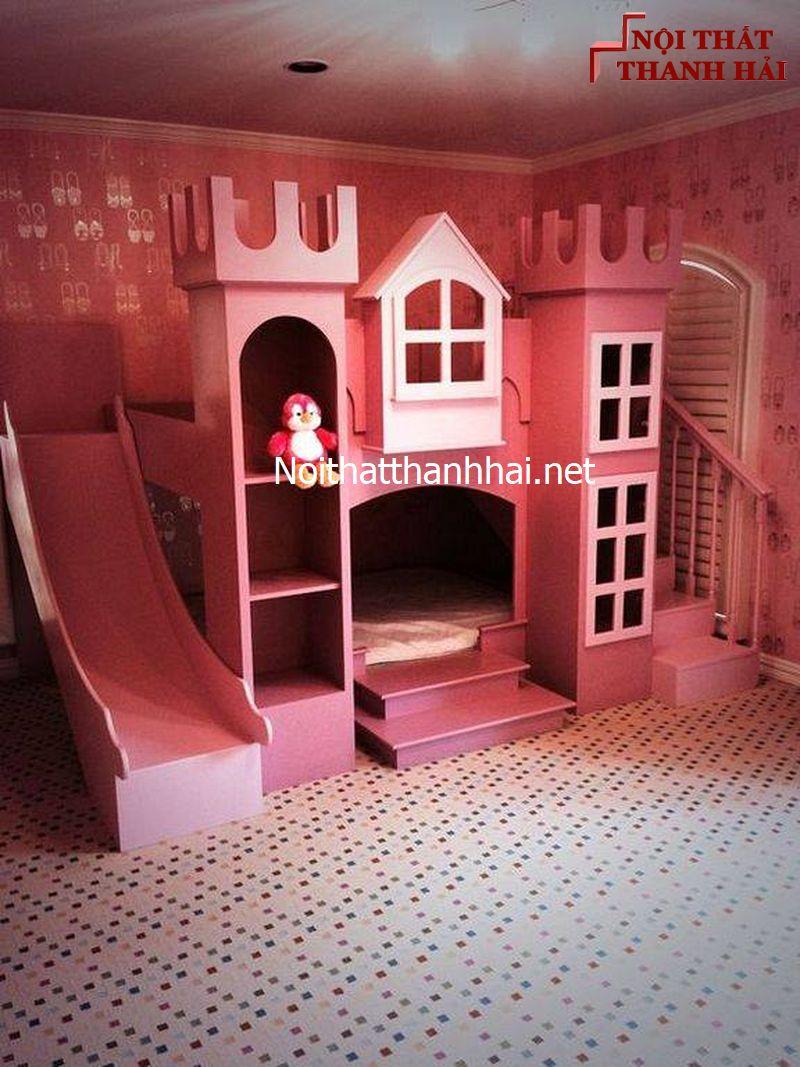 Giường tầng kiểu lâu đài cho bé, trẻ em 22