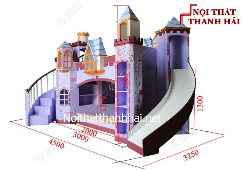 Giường tầng kiểu lâu đài cho bé, trẻ em 24