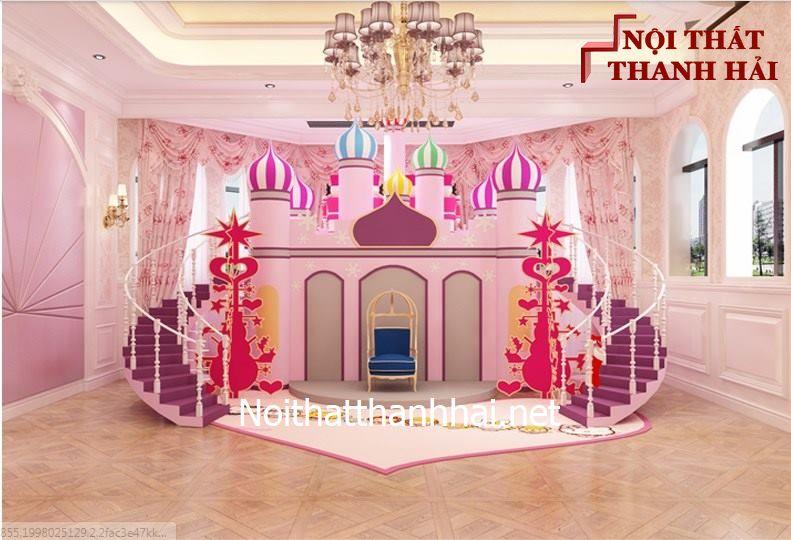 Giường tầng kiểu lâu đài cho bé, trẻ em 25