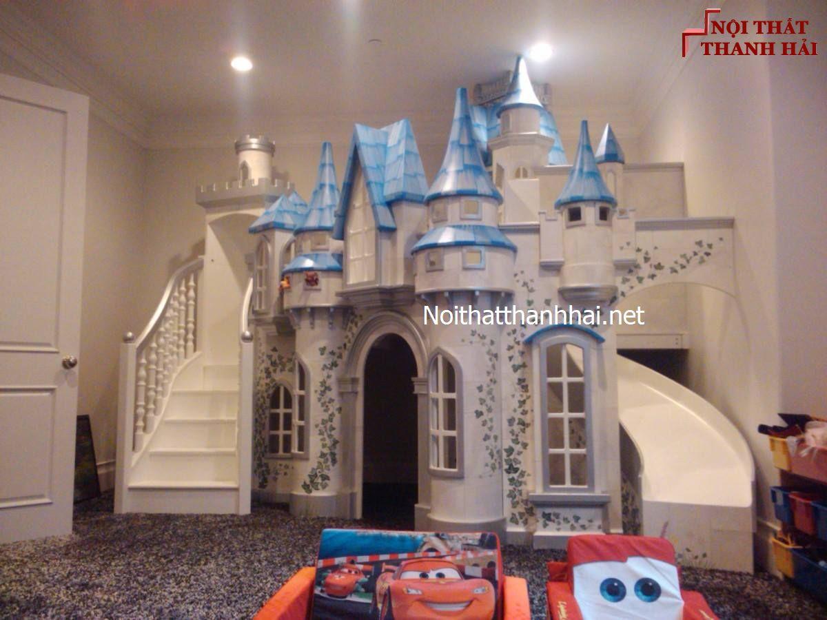 Giường tầng kiểu lâu đài cho bé, trẻ em 3