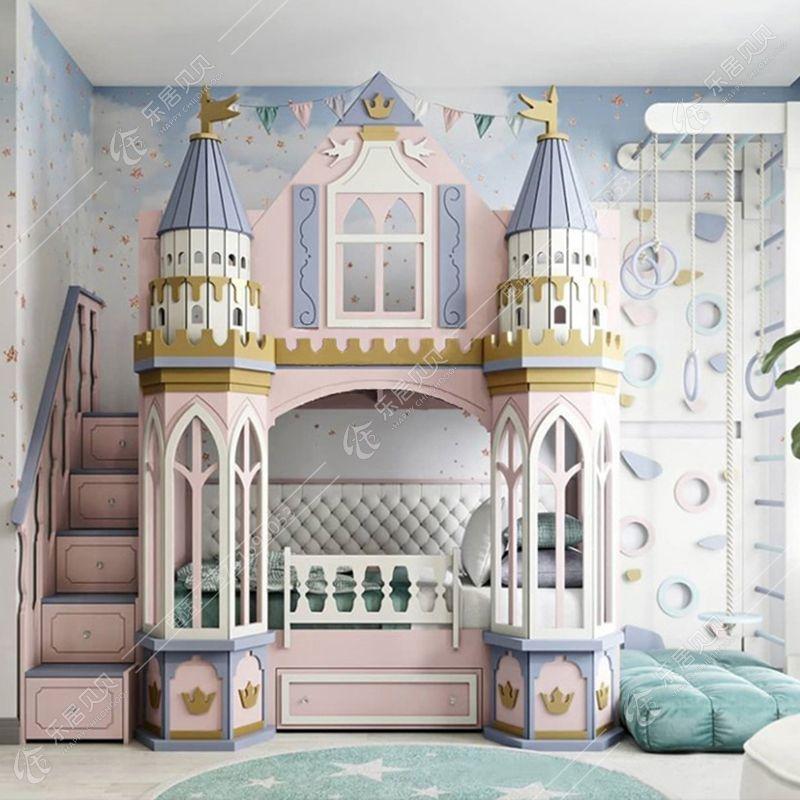 Mẫu giường tầng lâu đài thiết kế 30