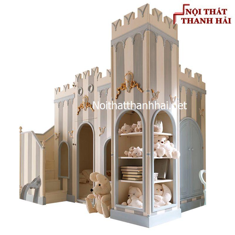 Giường tầng kiểu lâu đài cho bé, trẻ em 5