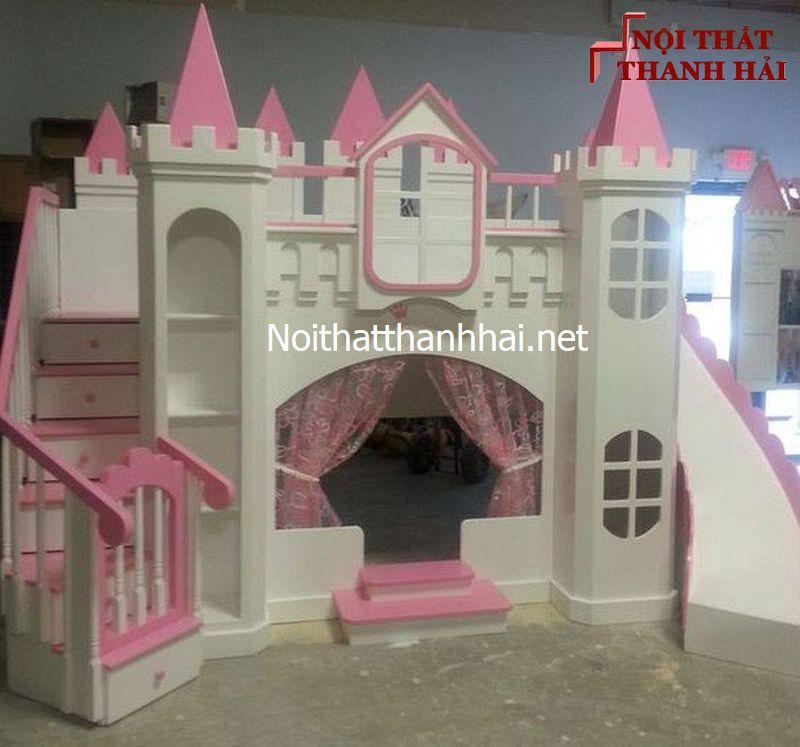 Giường tầng kiểu lâu đài cho bé, trẻ em 7