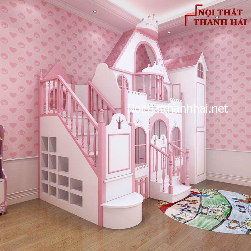 Giường tầng kiểu lâu đài cho bé, trẻ em 8