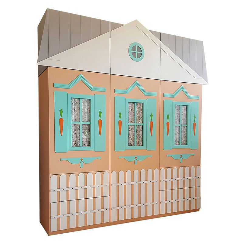 Tủ quần áo trẻ em kiểu ngôi nhà TTE119