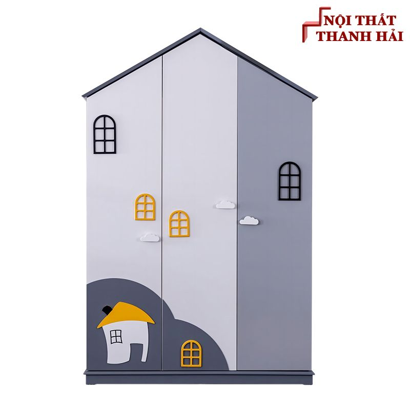 Tủ quần áo trẻ em kiểu dáng ngôi nhà TTE110
