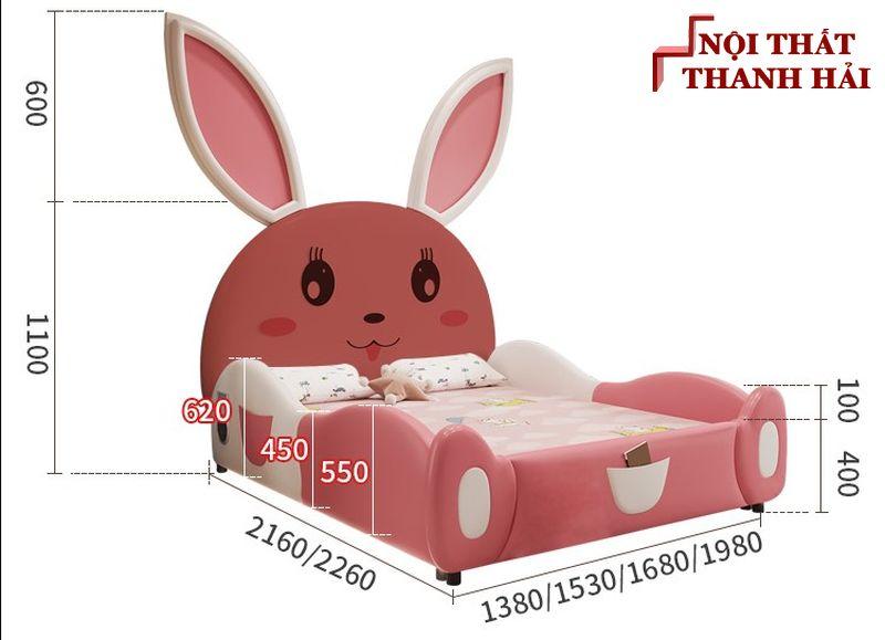 Giường công chúa bé gái GTE141 3